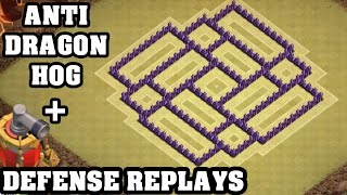 Clash of Clans - Town hall 7 (Th7) War Base + Defense REPLAY - ANTi Dragon ANTi Hog Strategy