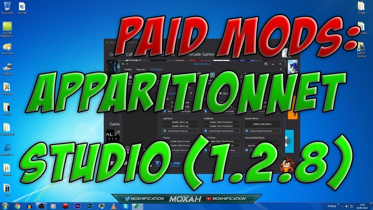 Paid Mods: ApparitionNET Studio (1 2 8) | Multiple Game, Mod Tool [JTAG/RGH]