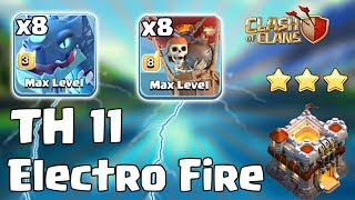 8 Electro Dragon + 8 Balloon + Stone Slammer :: TH11 ATTACK STRATEGY 2019 Clash of Clans