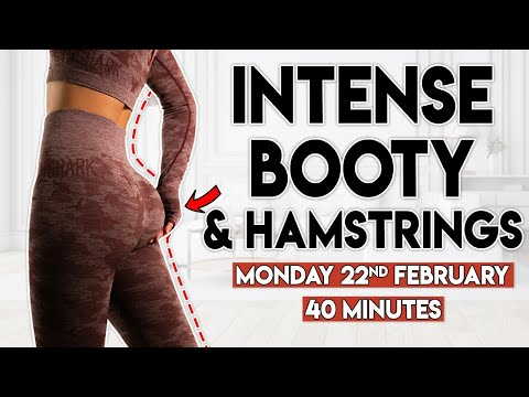 BOOTY & HAMSTRINGS (intense burn)   40 minute Home Workout