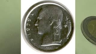видео 1 франк БЕЛЬГИЯ 1973.