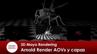 3d maya 296 rendering arnold render capas y aovs