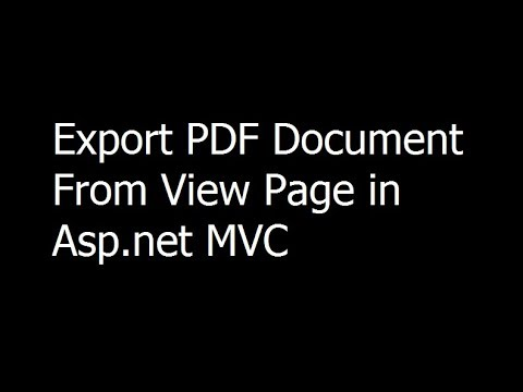 28 - ASP.NET MVC - Export PDF Document From View Page - Reports In Asp.net MVC