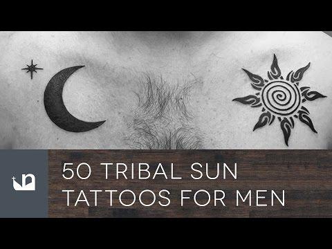 50 Tribal Sun Tattoos For Men