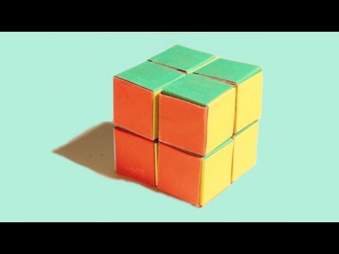 How To Make Paper Rubik's Cube 2x2 Easily At Home | Handicraft 360