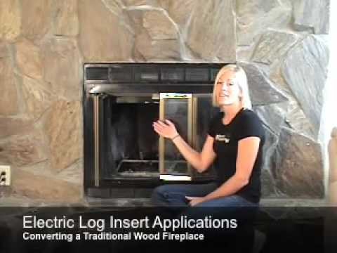 Installing Electric Logs in an Existing Fireplace Opening - YouTube