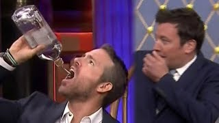 Jimmy Fallon VOMITS While Challenging Ryan Reynolds To GROSS Drinking Game