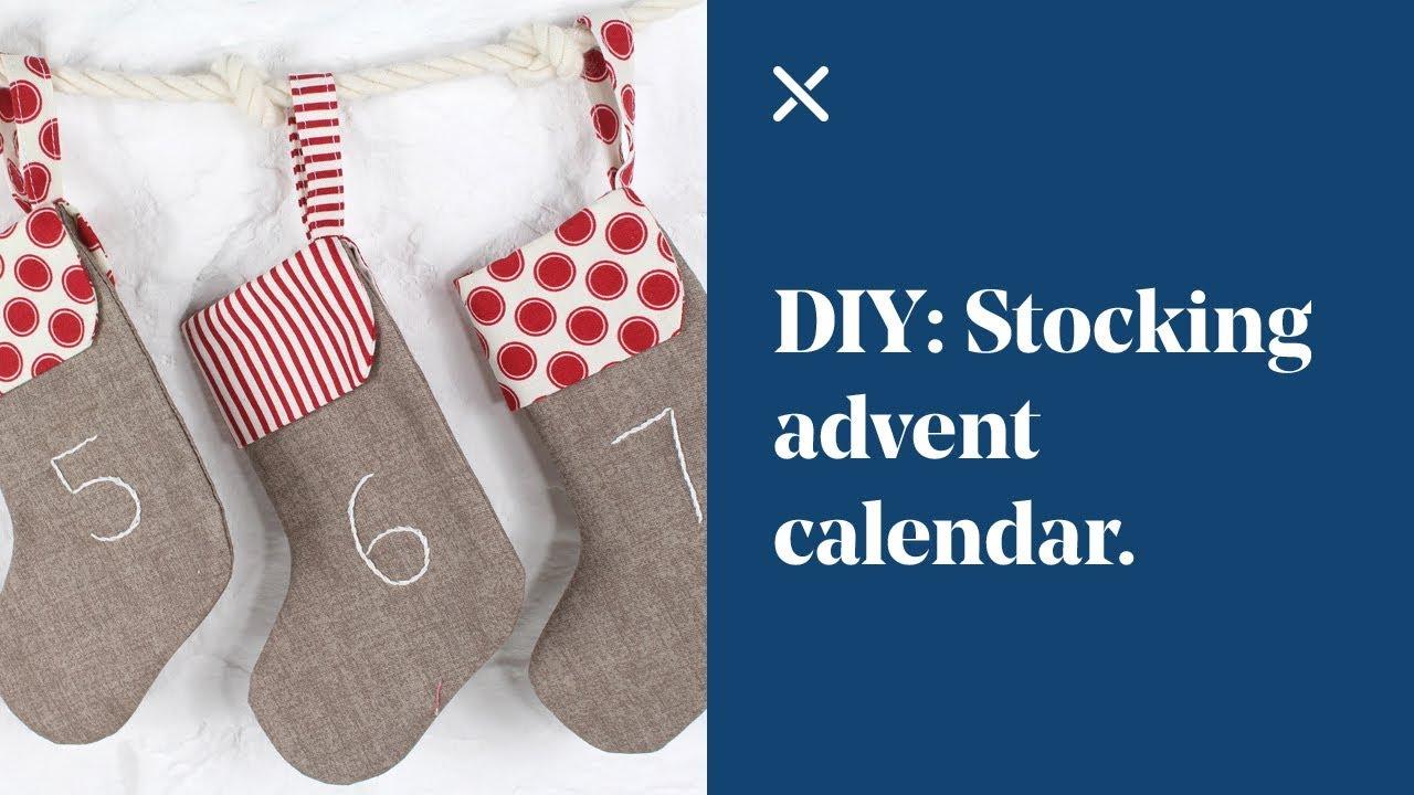 Diy Stocking Advent Calendar : Diy stocking advent calendar youtube