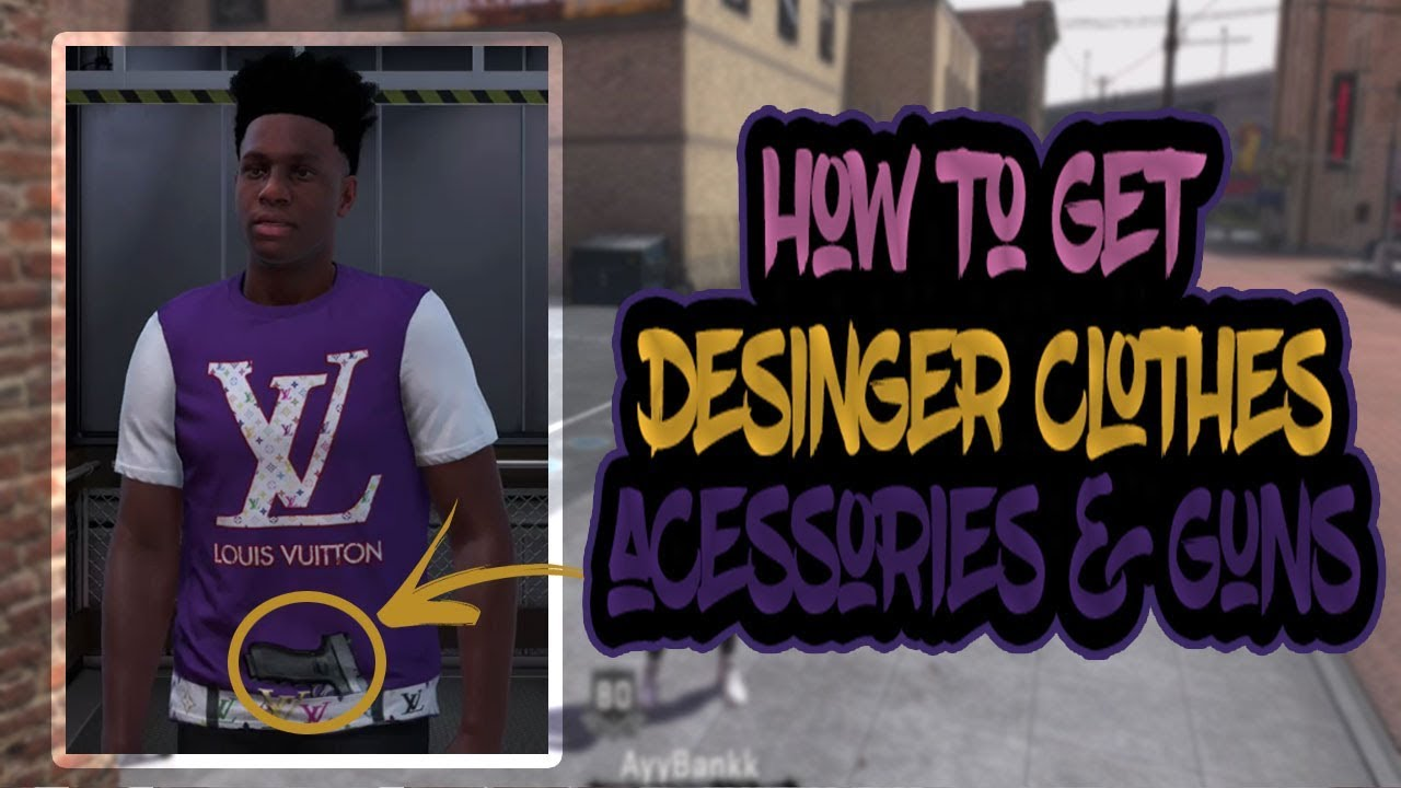 How To Buy Designer Clothes | How To Get A Gun Designer Clothes And Designer Belt On Nba 2k18