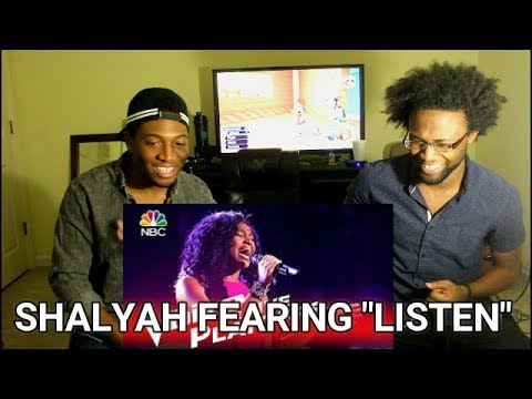 """The Voice 2016 Shalyah Fearing - Live Playoffs: """"Listen"""" (REACTION)"""