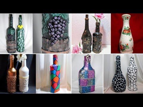 Декор бутылок тканью своими руками мастер очень красивые фото