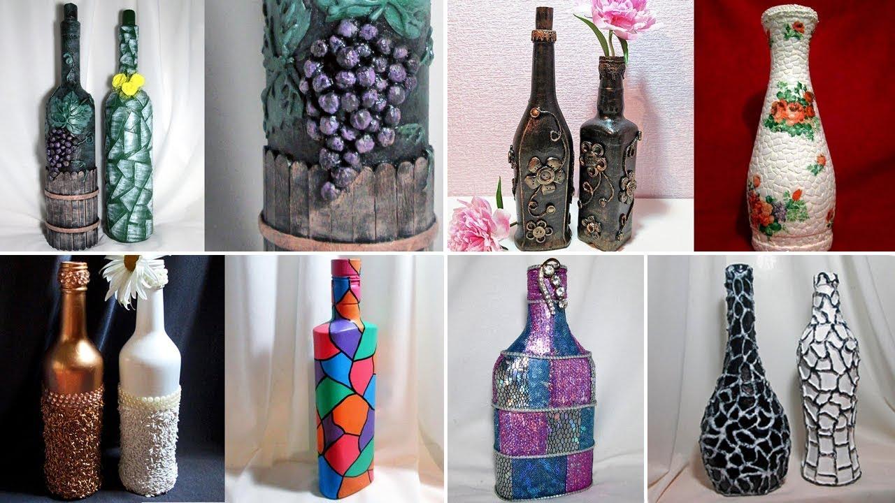 Декорирование бутылок своими руками мастер класс фото 334