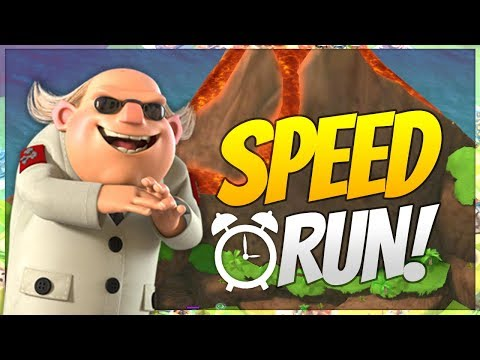 Boom Beach DR T VOLCANO BASE SPEED RUN!
