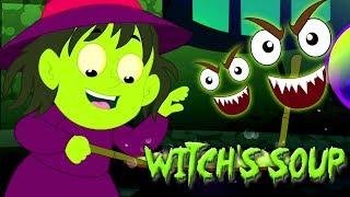bruxa sopa desenho animado desenho infantil Vídeo para crianças canção infantil Halloween Witch Soup