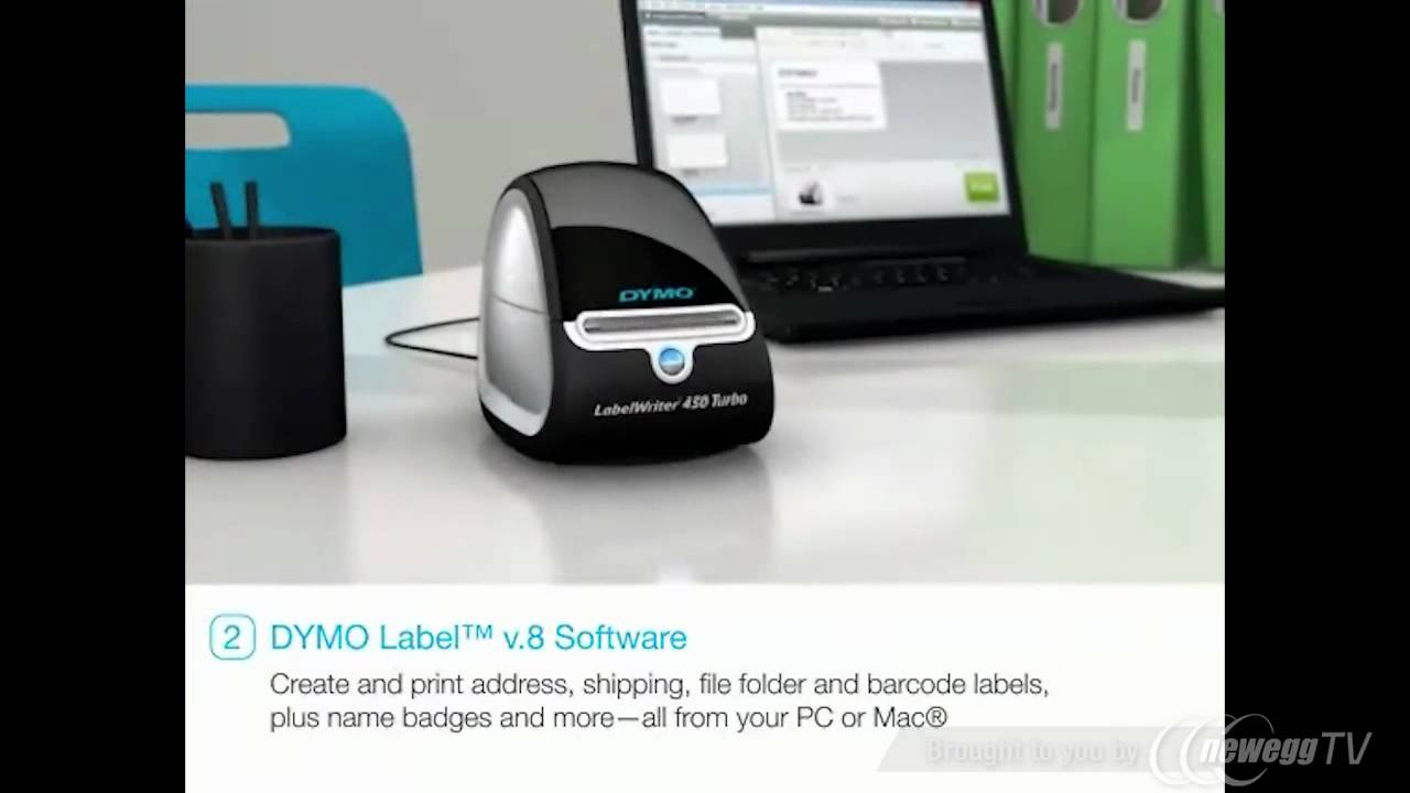 DYMO LabelWriter 450 Turbo (1752265) Postage and Label Printer for PC and  Mac - Newegg com