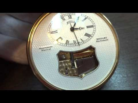 Reuge Boegli musical pocket watch, Mozart Magic Flute