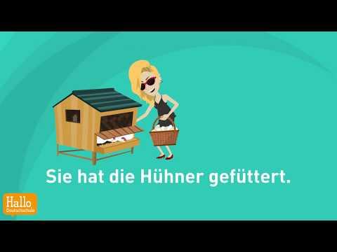 Learn German online A2, B1 / Verben im Präsens, Präteritum und Perfekt Teil 10