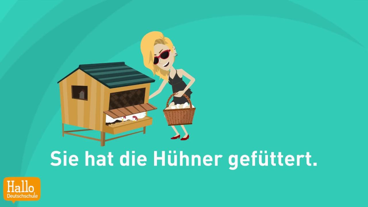 Learn German Online A2 B1 Verben Im Präsens Präteritum Und