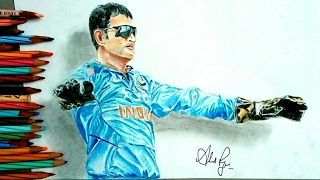 Drawing M.S Dhoni - Drawing Dhoni - Drawing Mahendra Singh Dhoni - Drawing ms dhoni-celebportrai #10