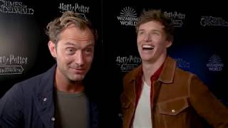 FANTASTIC BEASTS 2 Jude Law & Eddie Redmayne Interview - Back To Hogwarts Fan Event