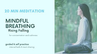 20 Minute Meditation (Guided plus 10 mins Self Practice) Mindful Breathing for Calm & Stress Relief