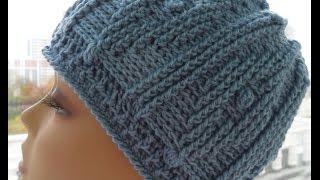 Рельефная шапочка крючком 1часть (relief cap crochet) (Шапка #24)
