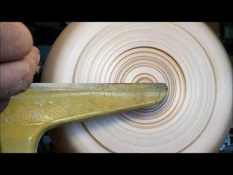 Hard Maple Textured Norwegian Style Salad Bowl Using Robert Sorby Texturing Tool