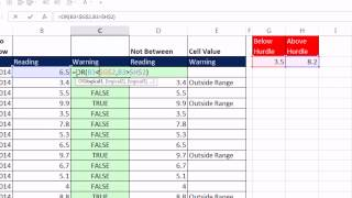 Excel Magic Trick 1087: OR & IF Function & Conditional Format: Number Outside Lower & Upper Hurdle