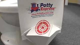 Potty Express, the Disposable Urinal for Potty Training Boys