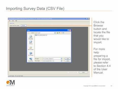 Using QualityMetric's Scoring Software