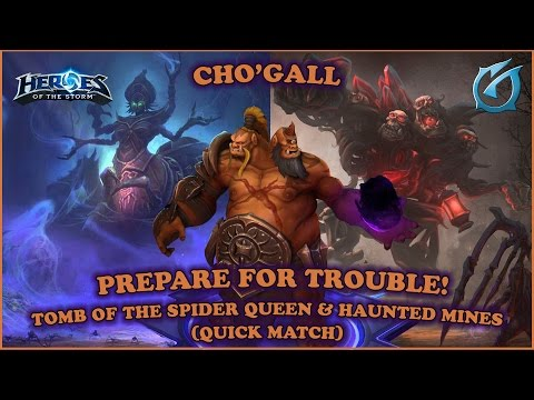 Grubby | Heroes of the Storm | Cho'Gall - Prepare for Trouble - QM - Spider Queen and Haunted Mines