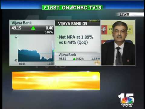 HALFTIME REPORT- Kishore Sansi, MD & CEO, Vijaya Bank– Jan 30