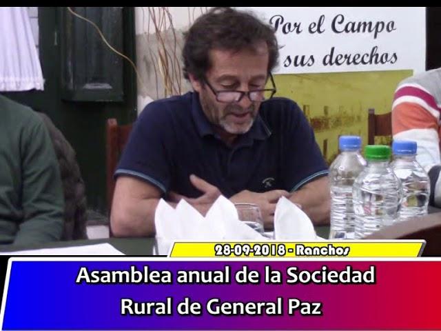 Asamblea anual Sociedad Rural
