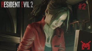 Let's Play Resident Evil 2 (PS4) Claire #2: Raccoon City & RPD Main Hall