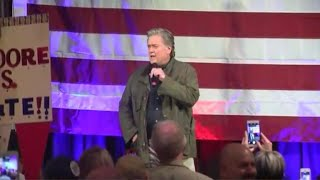 Steve Bannon rallies for Roy Moore in Birmingham