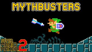 Can Link Take Damage From His Arrows? - Super Mario Maker 2 MYTHBUSTERS [#3]
