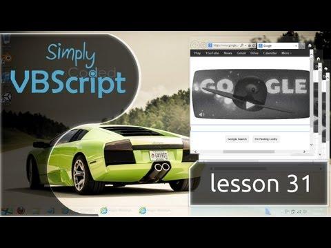 VBScript Basics, Part 31 | Internet Explorer - Existing