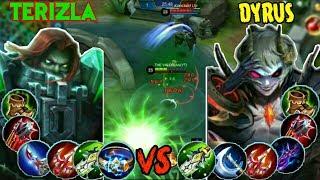 MOBILE LEGENDS DYRUS VS TERIZLA | MOBILE LEGENDS NEW HERO VS NEW HERO | MOBILE LEGENDS