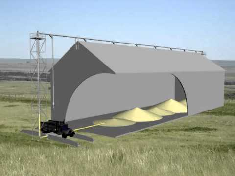 Grain Systems Video - Grain Handling in a Bulk Grain Storage Building