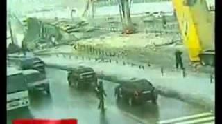 Truck Destroys Highway Bridge (very graphic)