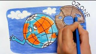 worldozoneday #ozonedayposter color pens link - https://amzn.to/2Kd...