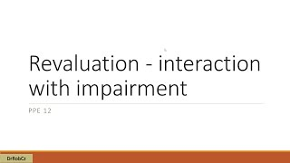 Interaction of revaluation with impairment