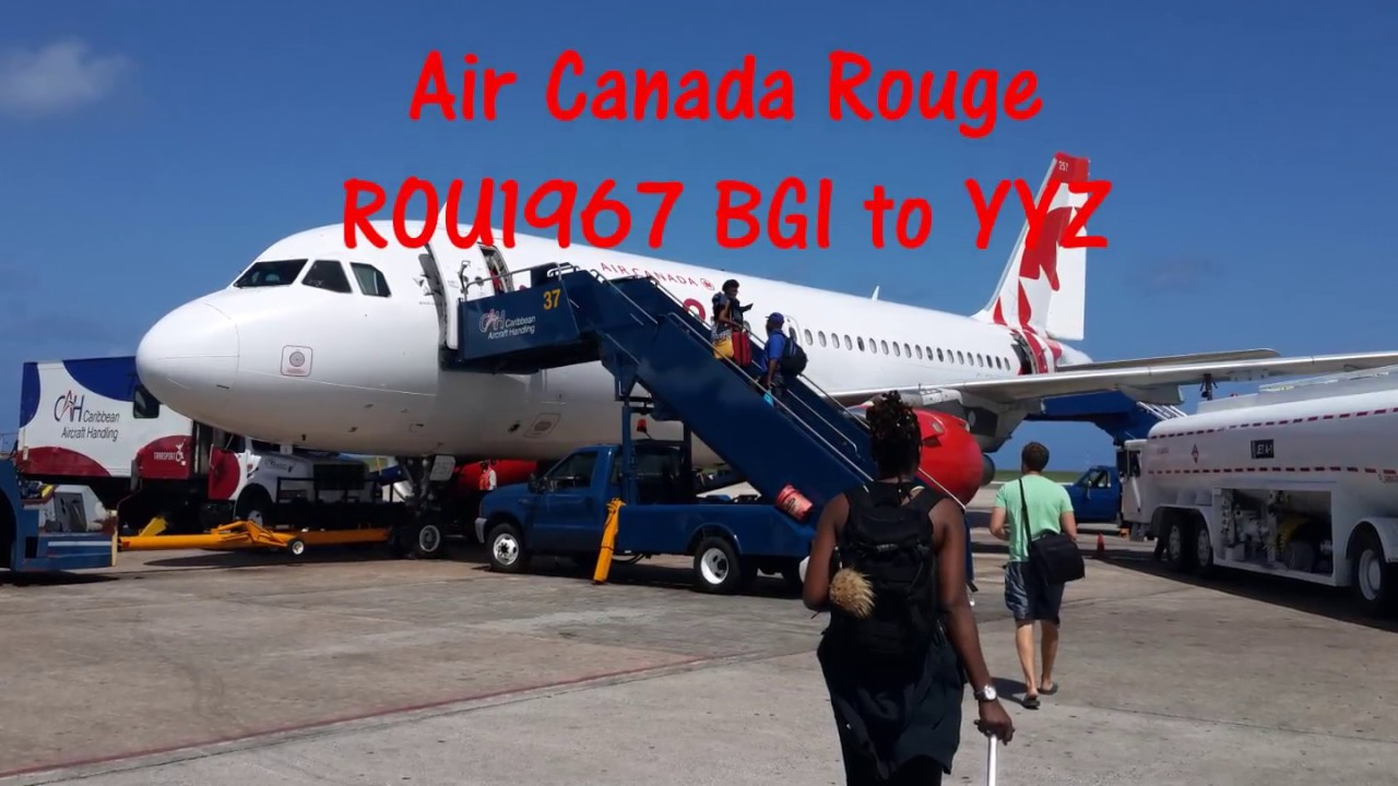 d0f1567a2c9c Air Canada Rouge BGI to YYZ - YouTube