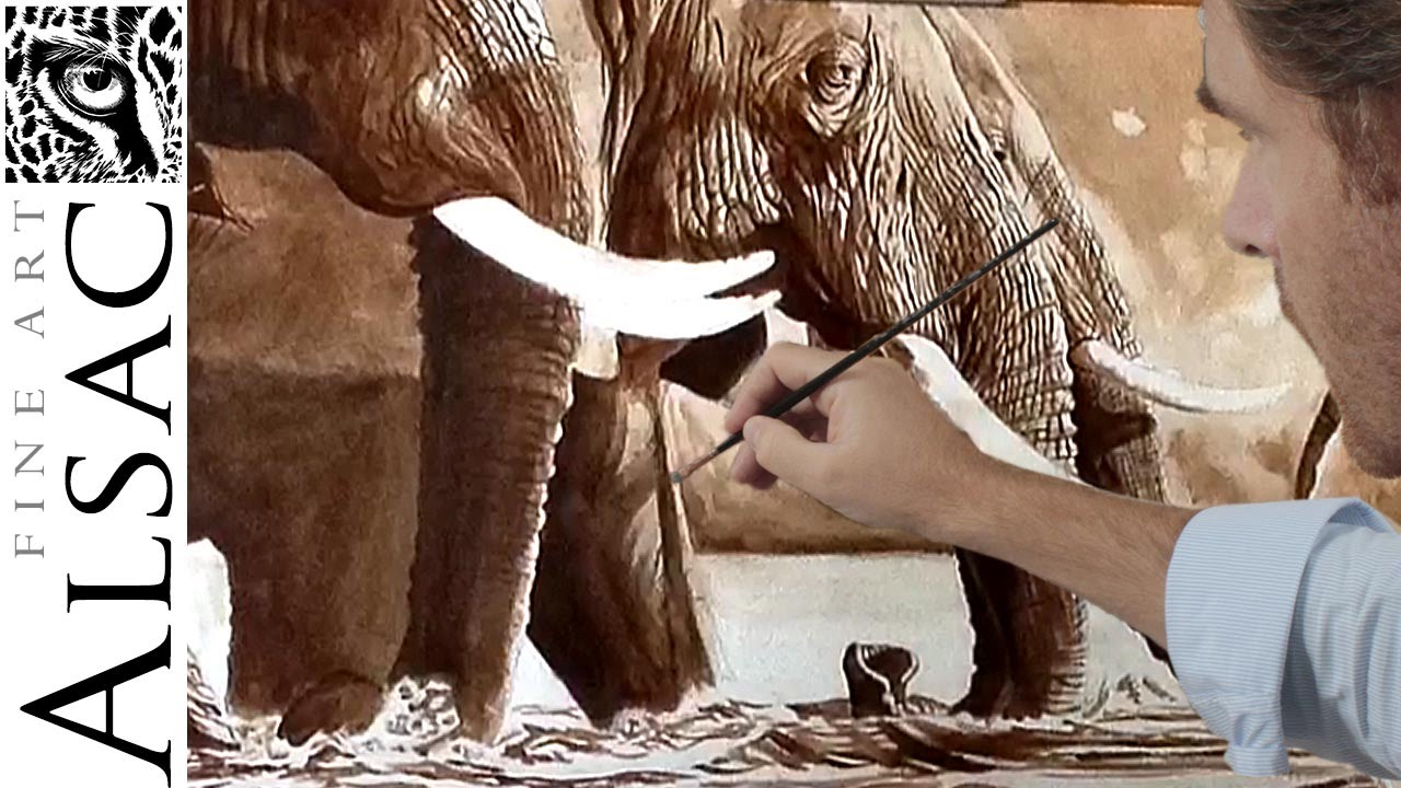 Elephant Painting A Picture Youtube