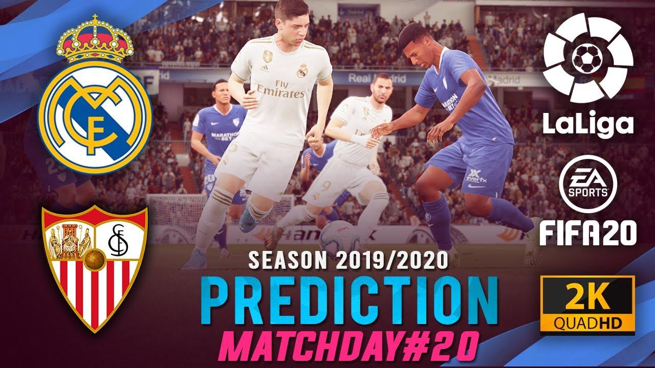 REAL MADRID vs SEVILLA FC | La Liga 2019/2020 Prediction ...