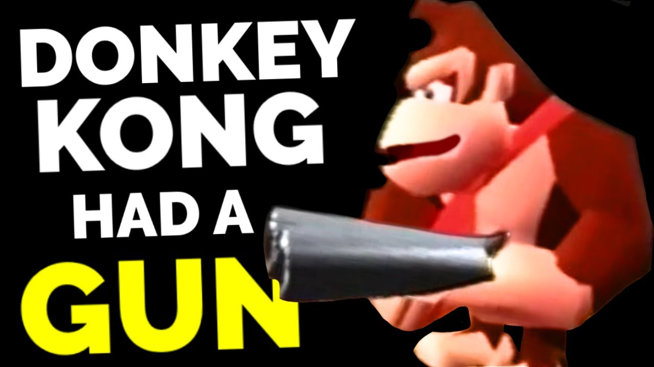 Remember When Donkey Kong Had A Real Gun Youtube