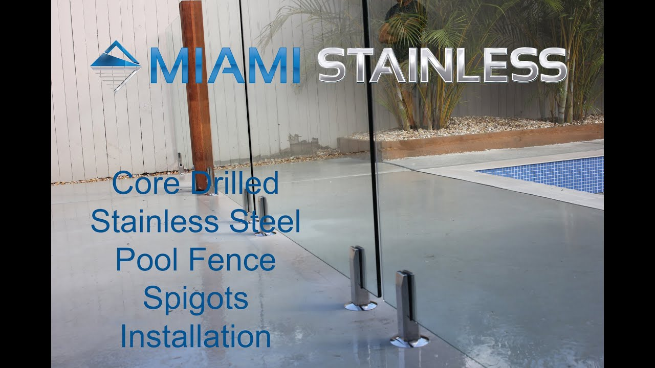 Glass Pool Fence Installation Youtube