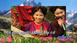 Gửi về quan họ [Karaoke] Song ca Nam Nữ tuyệt đỉnh