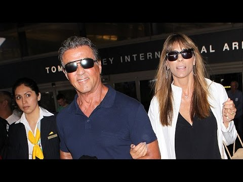 Sylvester Stallone And His Ladies Return To Los Angeles, Part Two