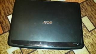 видео Ноутбук Асер Aspire 5935G не включается. Срочный ремонт южного моста Харьков